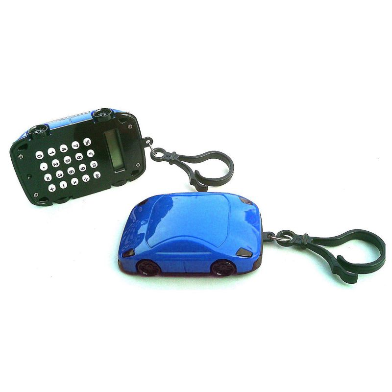 Калькулятор Брелок 8-разрядный Машинка (цвет синий)
