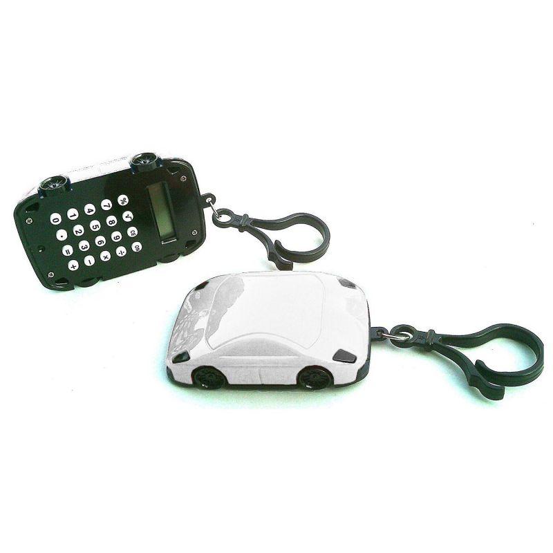 Калькулятор Брелок 8-разрядный Машинка (цвет белый)