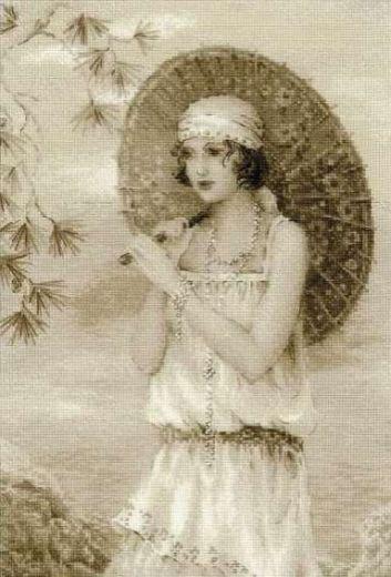Набор для вышивания крестом Старая фотография. Ривьера №1434 фирма Риолис