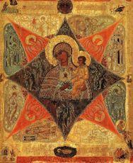 Неопалимая Купина икона Божией Матери (16 век)