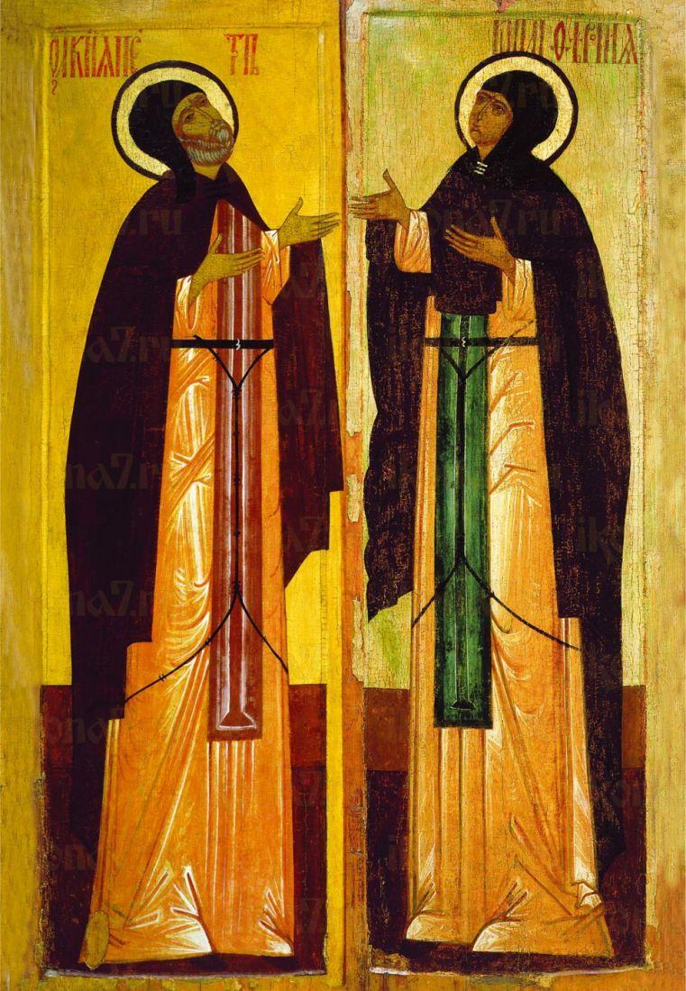 Икона Петр и Феврония (16 век)