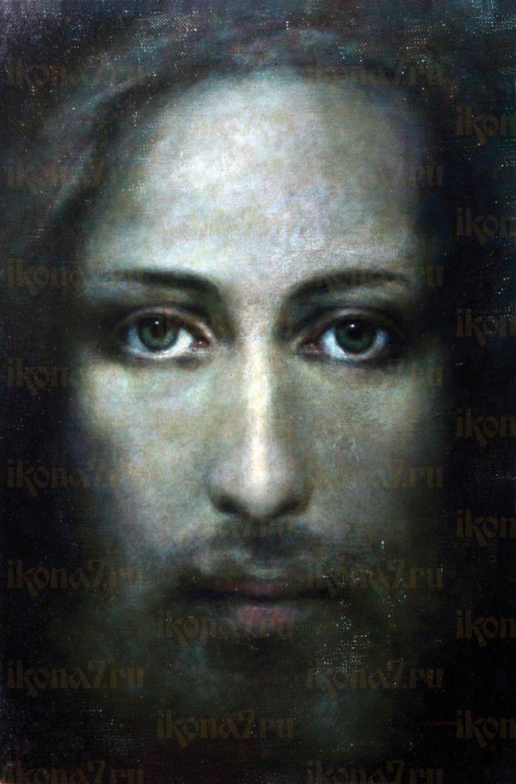 Икона Плащаница (лик Иисуса на плащанице)