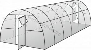 """Теплица """"Усиленная"""" ширина: 3м, высота: 2,1м, длина: 4м , профильная труба 20*40*1,5мм"""