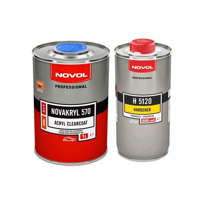 NOVOL Лак NOVAKRYL 570 MS 2+1 (комплект), объем 1л. + 500мл.