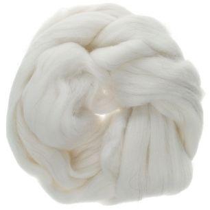 Белый-Шерсть для валяния полутонкая 100%, 50 гр.