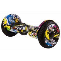 Гироскутер GT Smart Wheel 10,5 Самобаланс + App Граффити Желтый