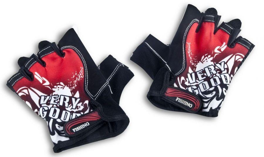 Классические спортивные перчатки полу-палец LongKeeper Красный