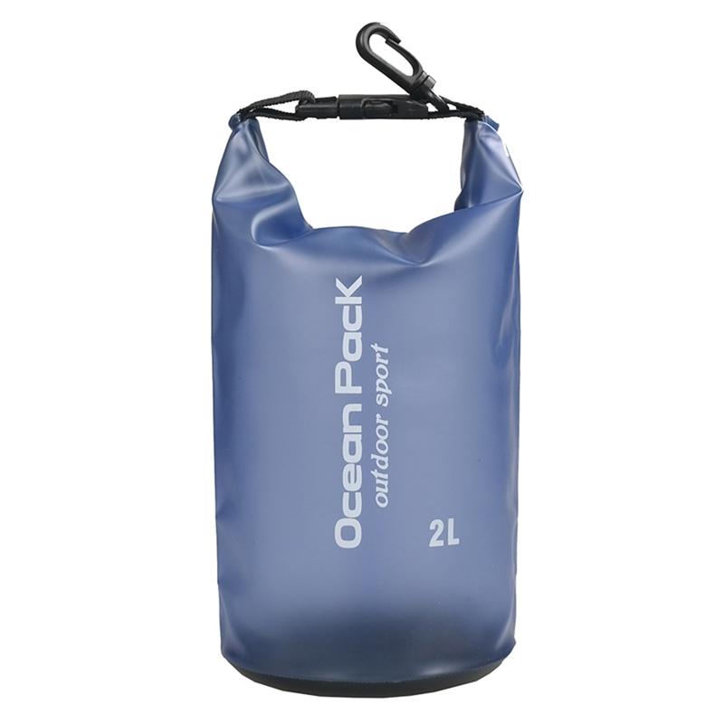 Водонепроницаемый мешок Ocean Pack Outdoor Sport 2 л (цвет синий)