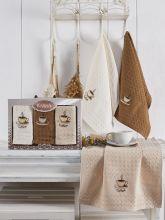 Комплект вафельных полотенец SALVA (45*65)*3  Арт.3476-1