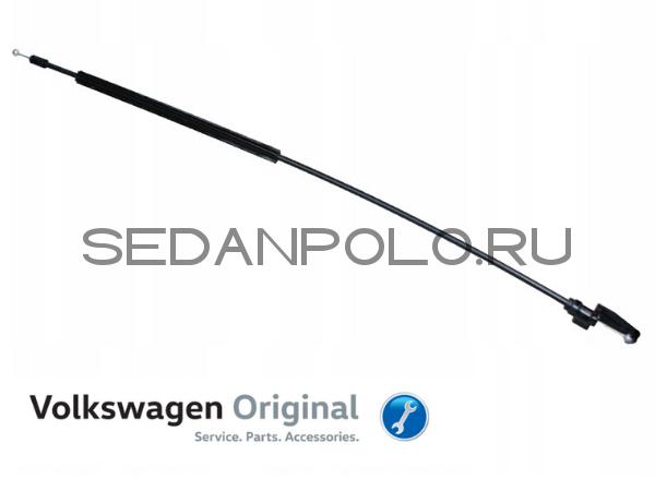 Трос замка капота Volkswagen Polo Sedan передняя(короткий)