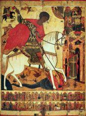 Икона Чудо Георгия о змие (16 век)