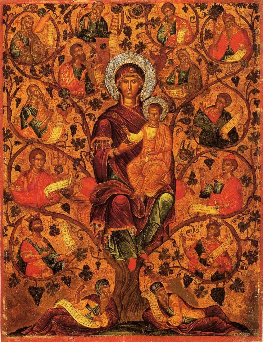 Древо Иессеево (копия иконы 17 века)