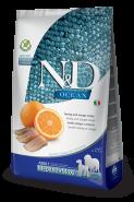 N&D OCEAN GF ADULT MEDIUM & MAXI HERRING AND ORANGE  Сельдь и апельсин для взрослых собак средних и крупных пород, 12 кг