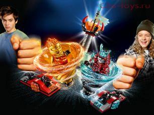 Конструктор Lari Ниндзя Бой мастеров кружитцу — Кай против Самурая 11325 (70684) 176 дет
