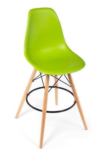 Стул Eames барный зелёный