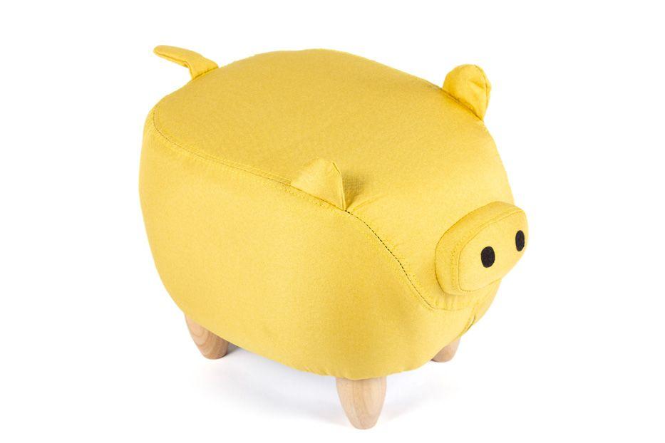 Пуф Поросенок желтый