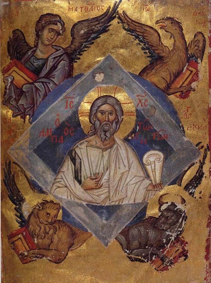 Икона Ветхий Денмим святой 13 век
