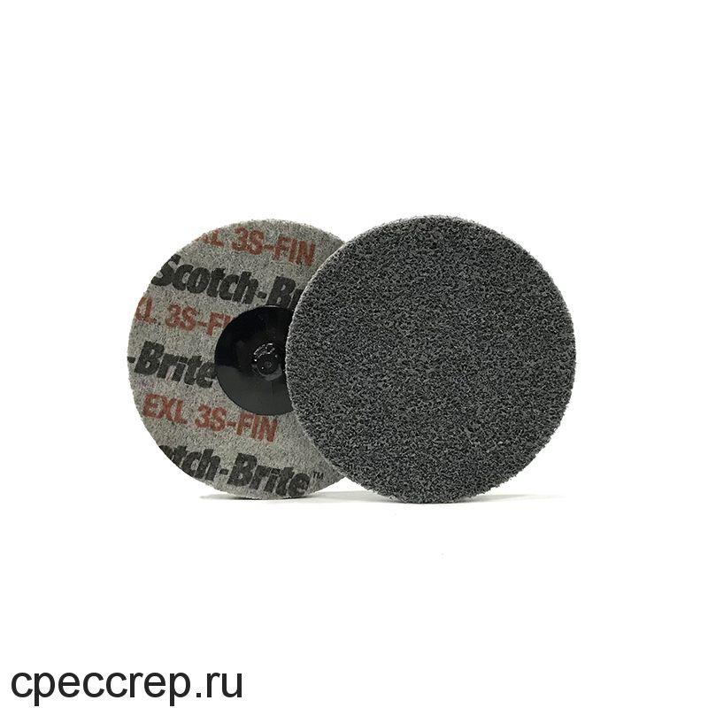 Быстросъёмный нетканый прессованный круг ROXPRO 50х6мм, 2S, Fine