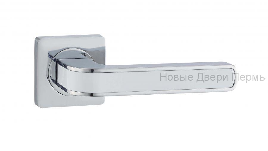 Ручки дверные S-Locked A-115 CP/white