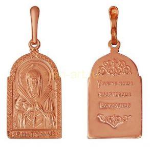 """Позолоченная подвеска """"Семистрельная икона Божьей Матери"""" (арт. 788096)"""