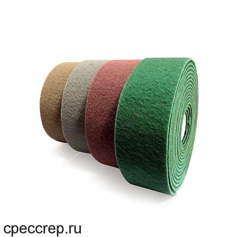 Нетканый абразивный материал 115мм х10м FINE, зелёный