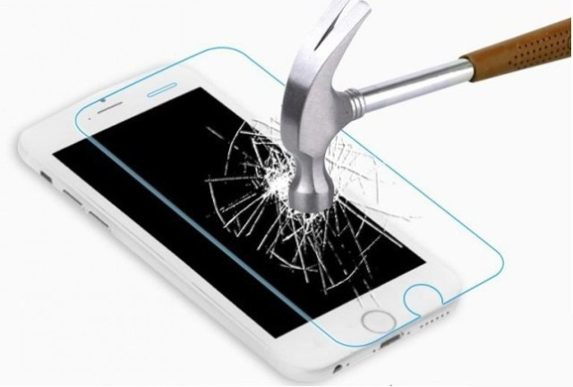 Защитное стекло Samsung A750F Galaxy A7 (2018) (бронестекло, 3D white)