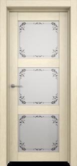 Межкомнатная дверь L 12 стекло Фрезия