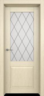 Межкомнатная дверь L 6 стекло Ромб