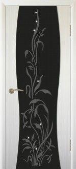 Межкомнатная дверь Сириус с художественным рисунком со стразами