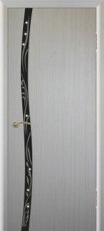 Межкомнатная дверь Сириус 1 с худ.рис. со стразами