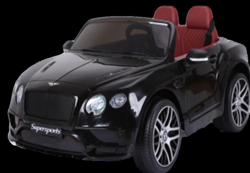 Детский электромобиль (2020) JE1155 (6V, экокожа, EVA) Чёрный