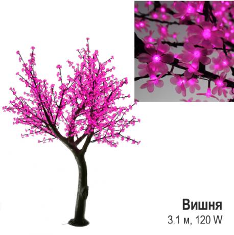 Светодиодное LED дерево «Вишня», розовое, 3 м., 120 W