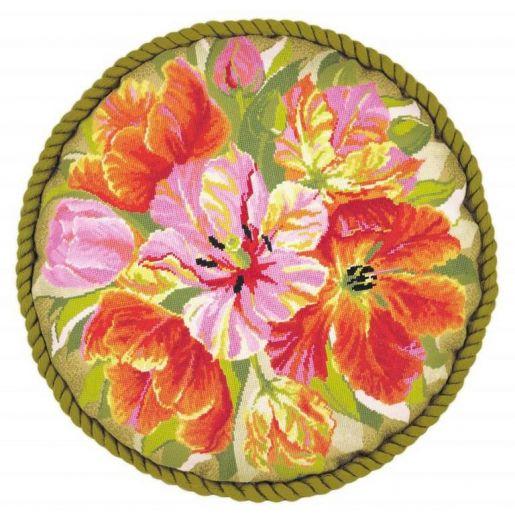 Набор для вышивания крестом Подушка Тюльпаны №1500 фирма Риолис