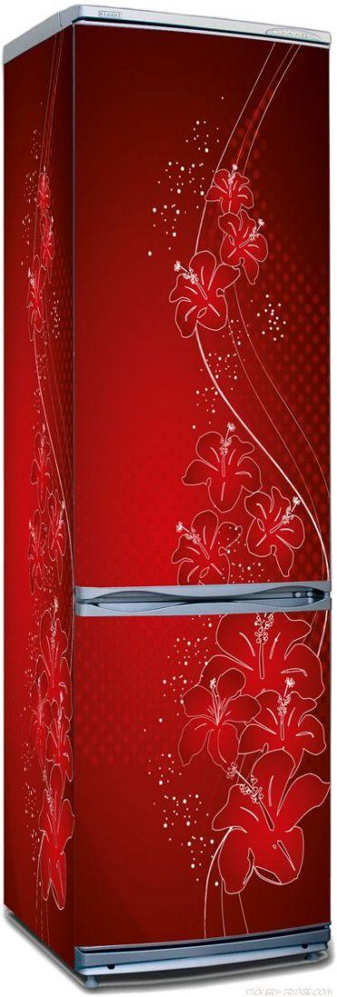 Наклейка на холодильник - Оттенки красного