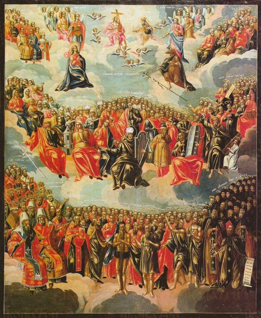 Икона Собор всех святых 16 век