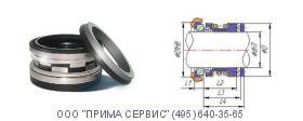 Торцевое уплотнение 2100-25 mm Sic/Sic/Viton L3+