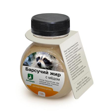 Барсучий жир с мёдом и дигидрокверцетином