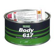 """HB Body Шпатлевка PROLINE 617 NANO FIBER POLYESTER FILLER с укороченным стекловолокном, название цвета """"Зеленый"""", объем 1кг."""