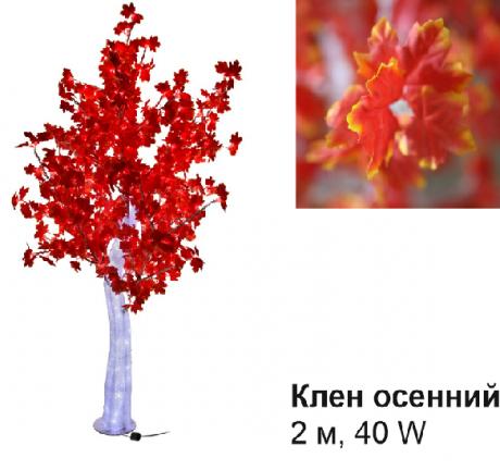 Светодиодное Led дерево «Клен осенний», красное, 2 м, 40 W