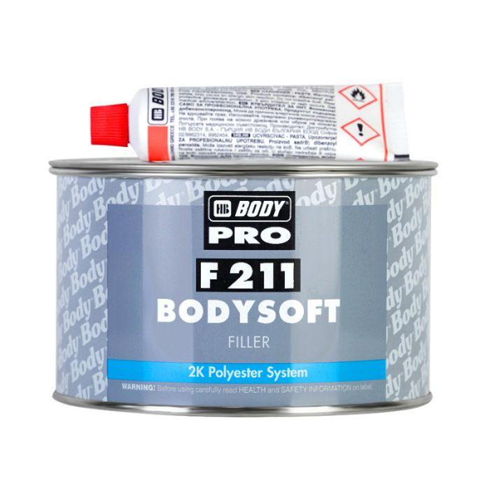 "HB Body Soft Шпатлевка BODY PRO F211 SOFT наполняющая, название цвета ""Светло-желтый"", объем 380гр."