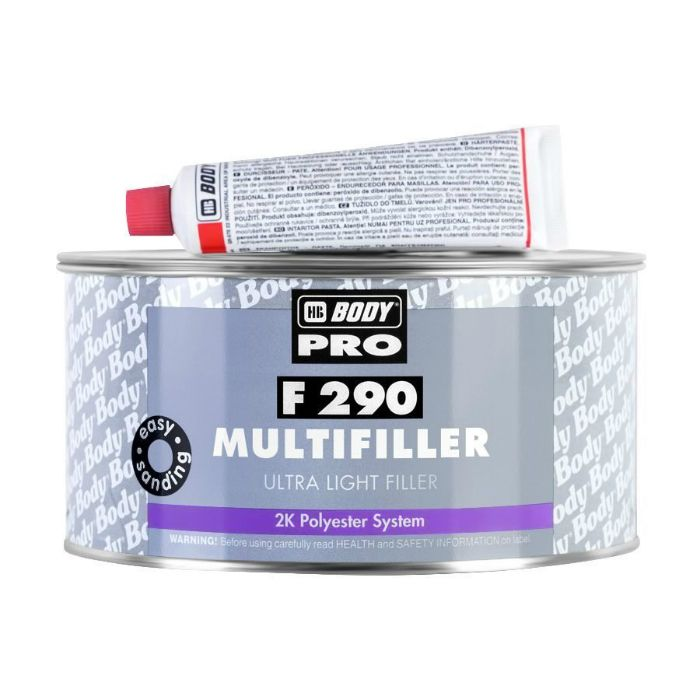 "HB Body Шпатлевка 290 Ultra Light Multifille универсальная, название цвета ""Бежевый"", объем 3л."