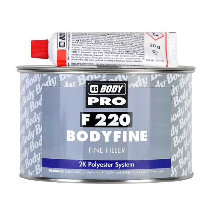 """HB Body Шпатлевка PRO F220 FINE доводочная, название цвета """"Белый"""", объем 1кг."""