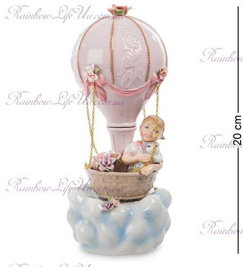 """Фигурка муз. Девочка на воздушном шаре """"Pavone"""""""