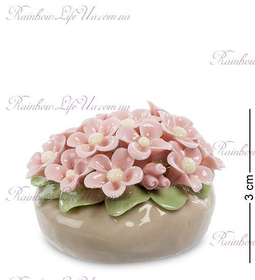"""Статуэтка корзинка с цветами """"Pavone"""""""