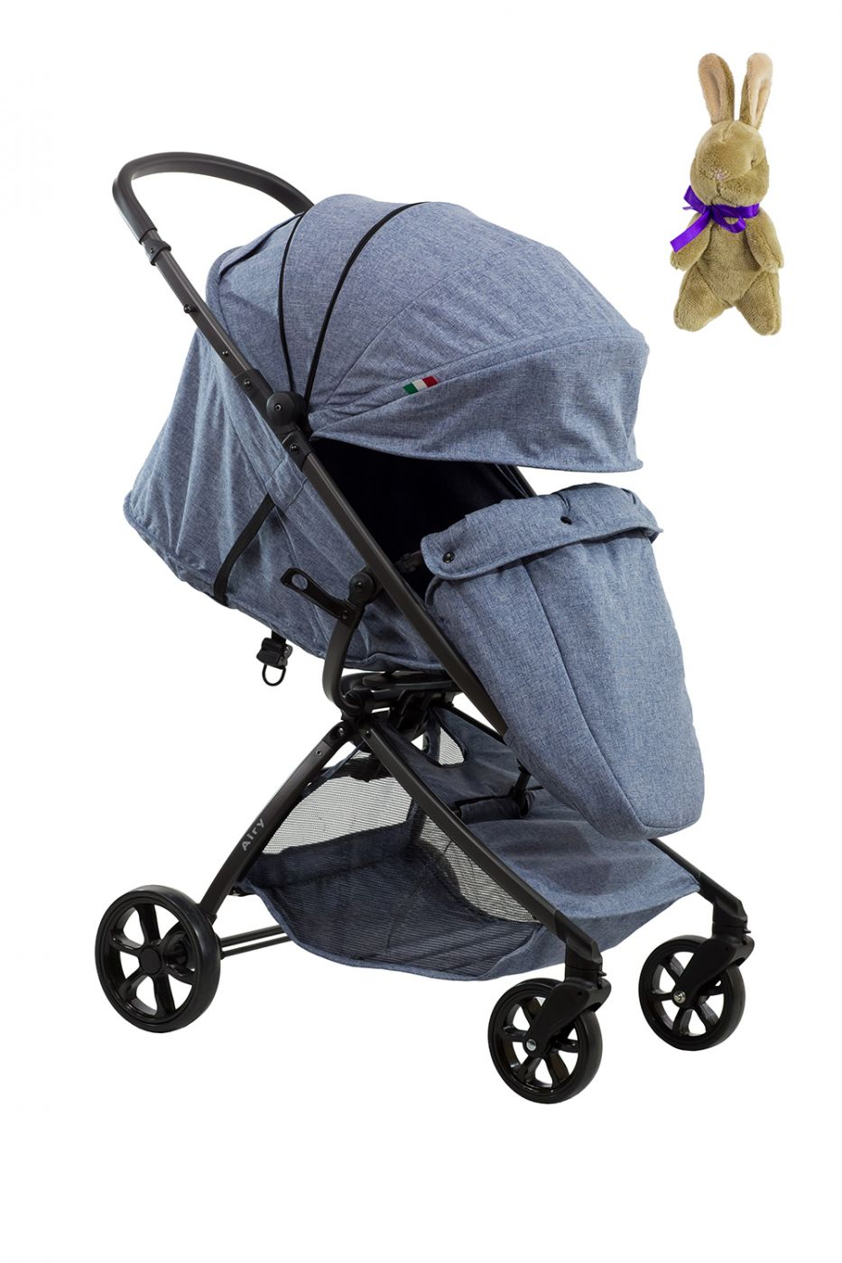 Коляска детская прогулочная Farfello Airy  серо-голубой / GRAY-BLUE
