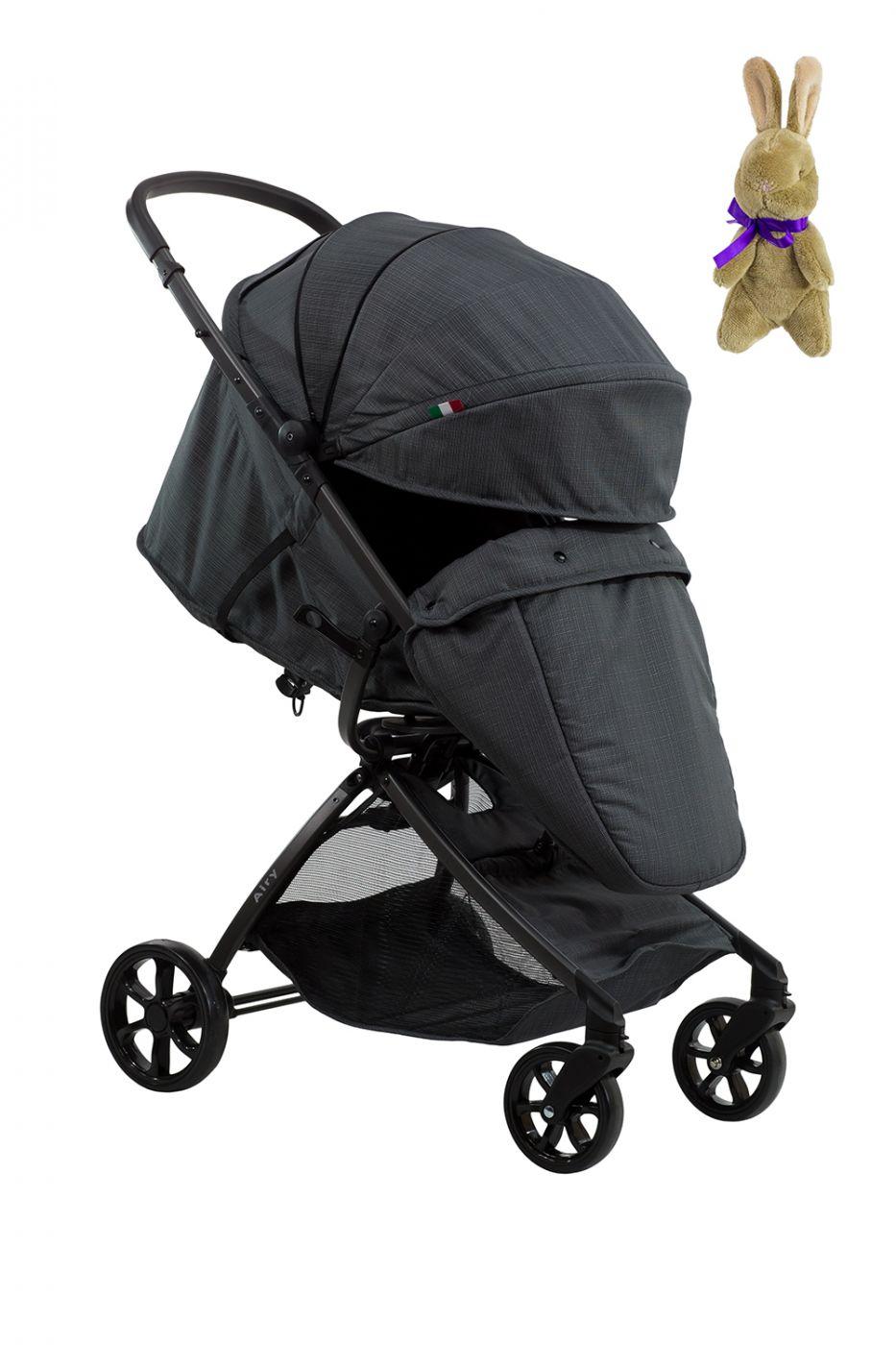 Коляска детская прогулочная Farfello Airy  тёмно-серый / DARK GRAY