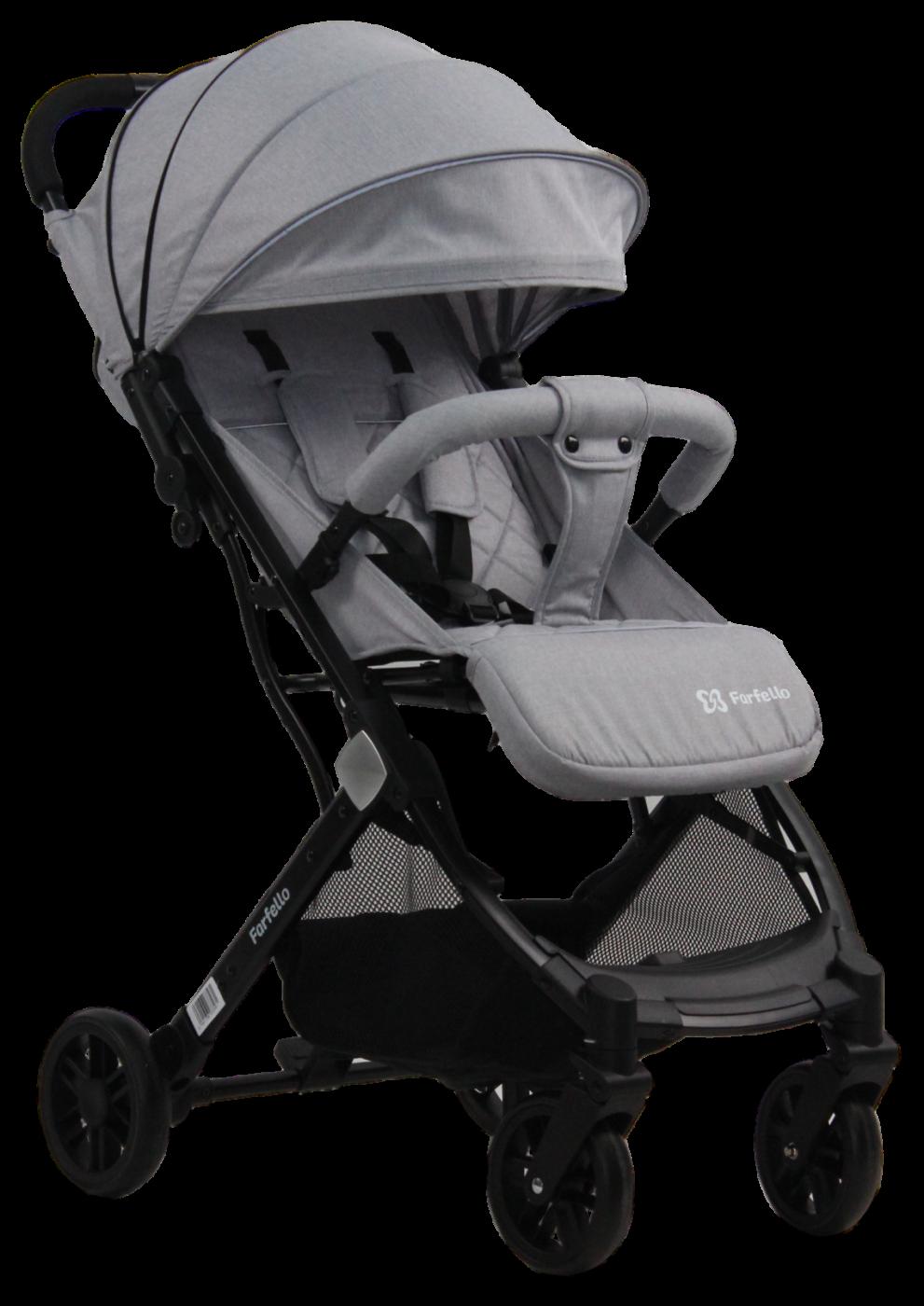 Коляска детская прогулочная Farfello Comfy Go Platinum/серый