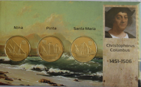 Корабли Колумба 3 доллара 2020 Гуанахани Набор из 3 монет