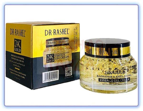 Антивозрастной крем-гель для лица с частицами 24-каратного золота Dr Rashel 24K Gold Radience & Anti-Aging Essence Gel Cream