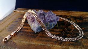 """Позолоченный браслет, плетение """"кольчуга"""", 4 мм (арт. 250241)"""